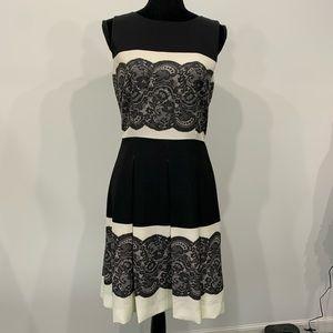 Tahari Women's Black and White Dress Pockets